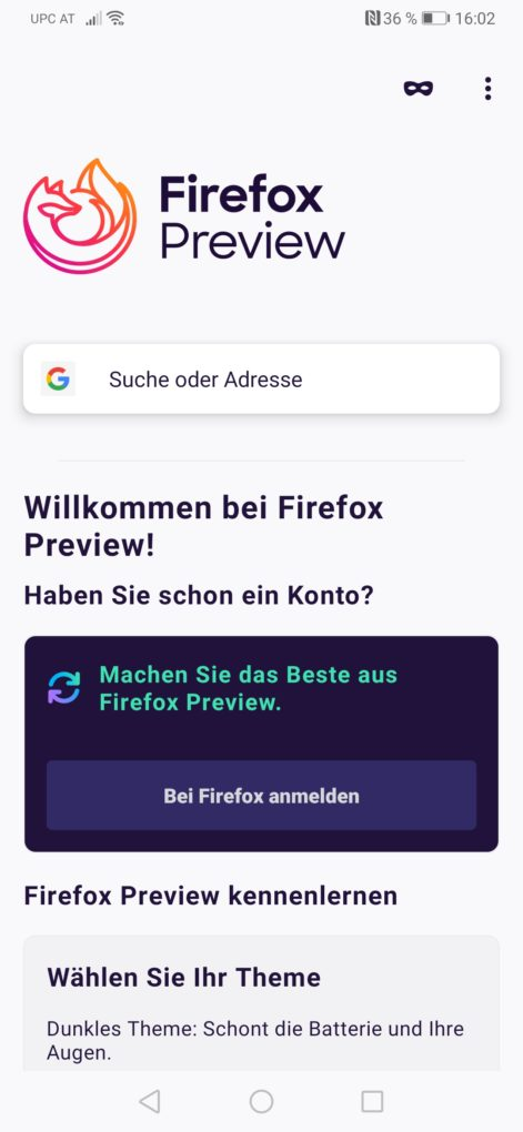 Firefox Preview Screenshot