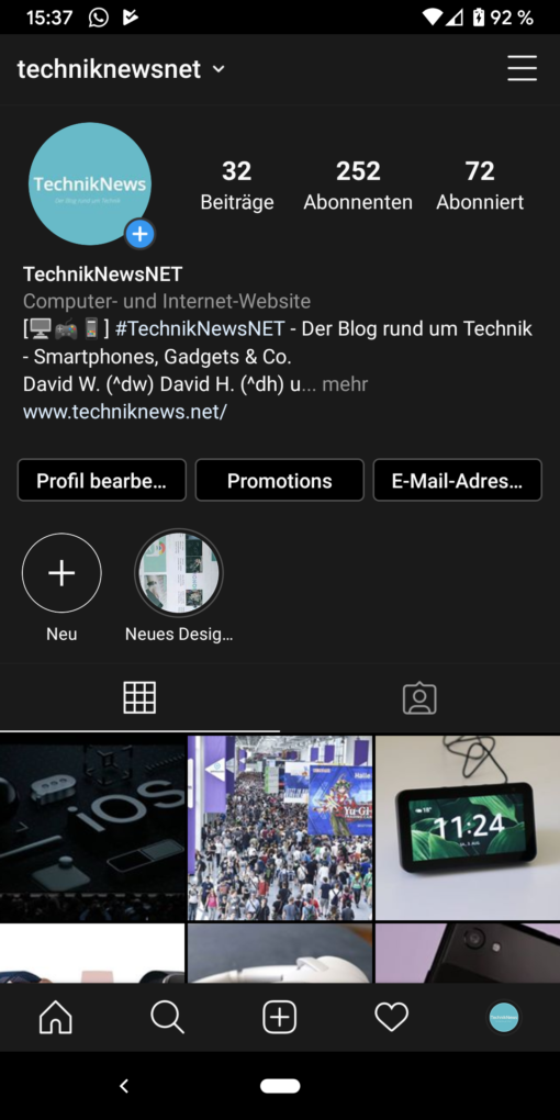Instagram Dark Mode Android