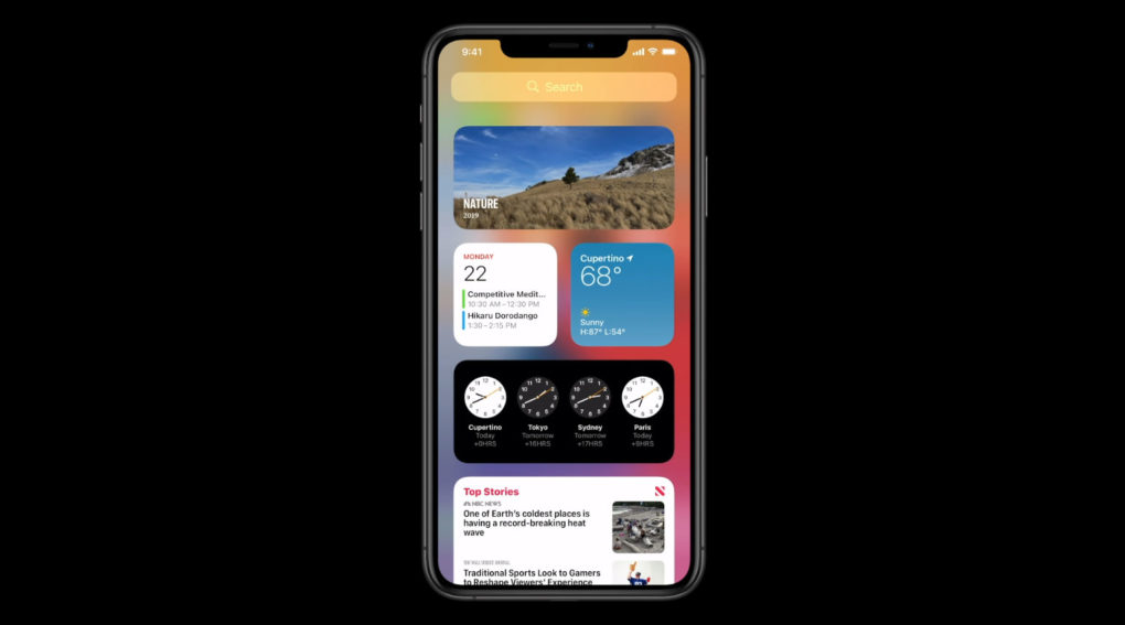 Apple iOS 14 Homescreen Widgets