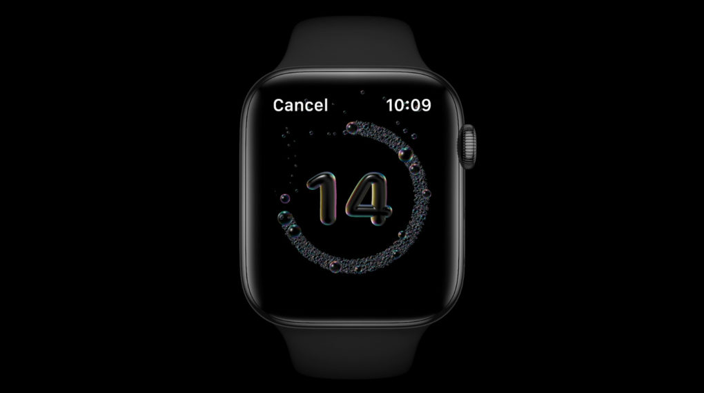 Apple watchOS 7 Handwash