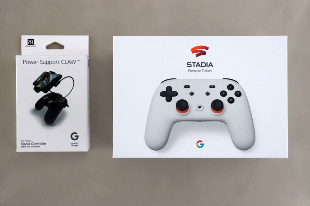 Google Stadia Unboxing Power Support Claw