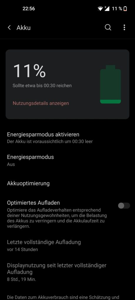 OnePlus 8T Screen-On-Time