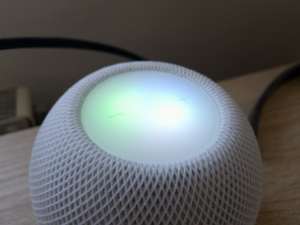 Apple HomePod mini Bedienfeld