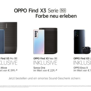 OPPO Find X3 Serie Bundle-Aktion