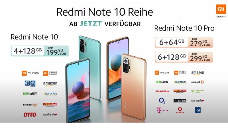 Redmi Note 10 Serie Header