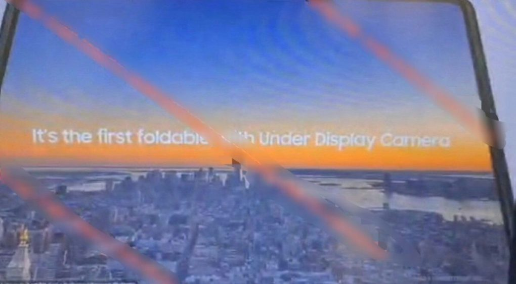 Samsung Galaxy Z Fold 3 under display camera Leak
