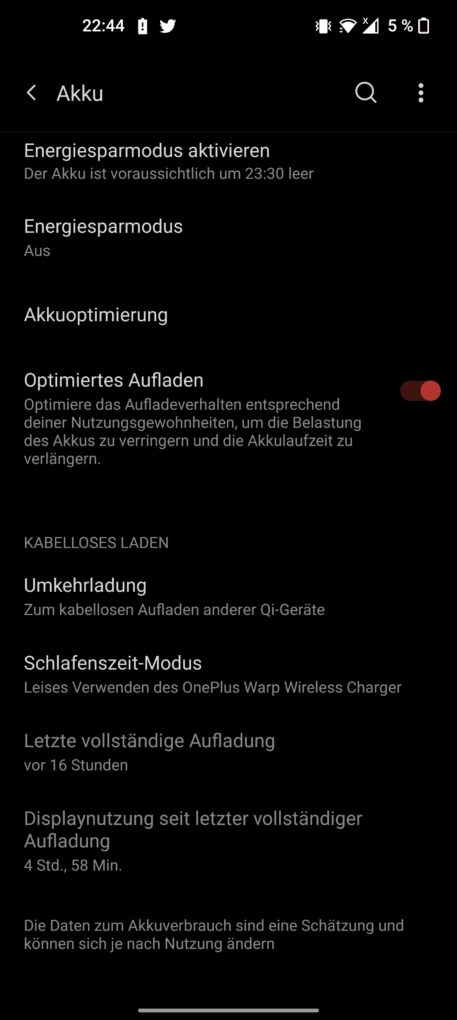OnePlus 9 Pro Screen-On-Time