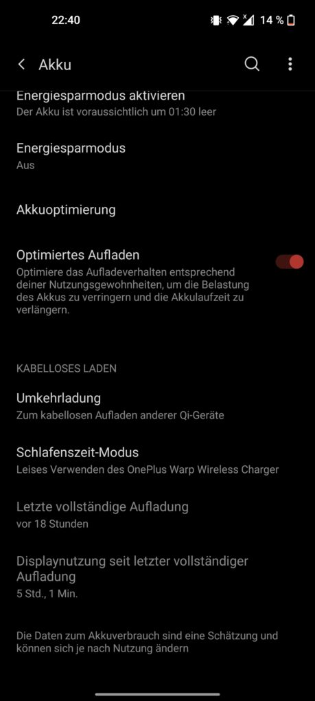 OnePlus 9 Screen-On-Time